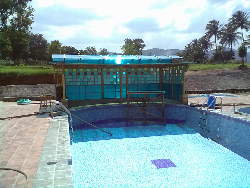 Ecosafe solutions providing water proofing wooden dance sports flooring vertical garden for Swimming pool construction cost in chennai